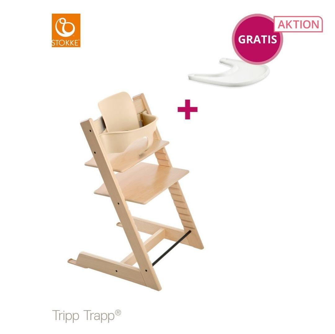 stokke tripp trapp mit babyset und tray. Black Bedroom Furniture Sets. Home Design Ideas
