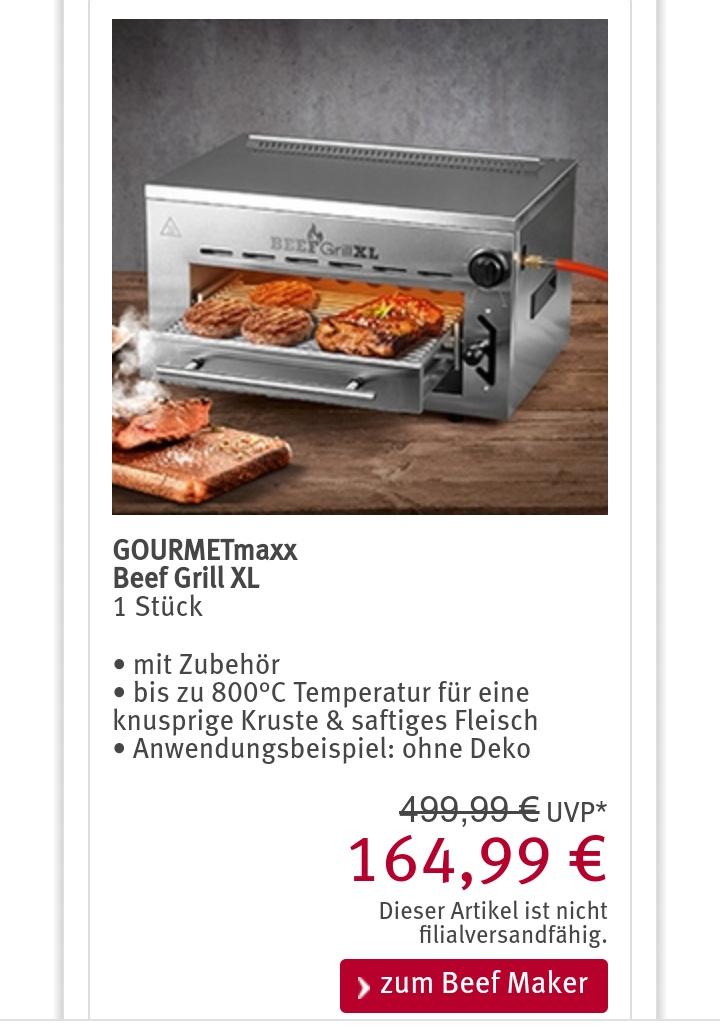GOURMETmaxxBeef Grill XL