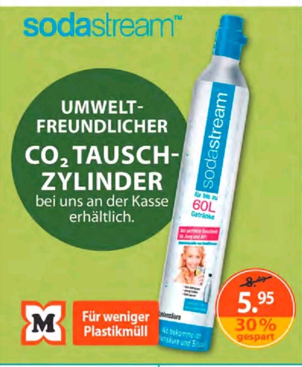 Original Sodastream CO2-Tauschzylinder-Füllung ca. 60l, für 5,95€(mitCoupon 5,39€ (zum Ausdrucken) @Müller [Lokal]