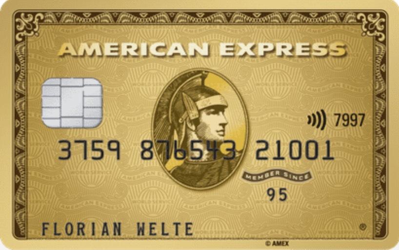 American Express Gold Karte 30.000 MRP Willkommensbonus