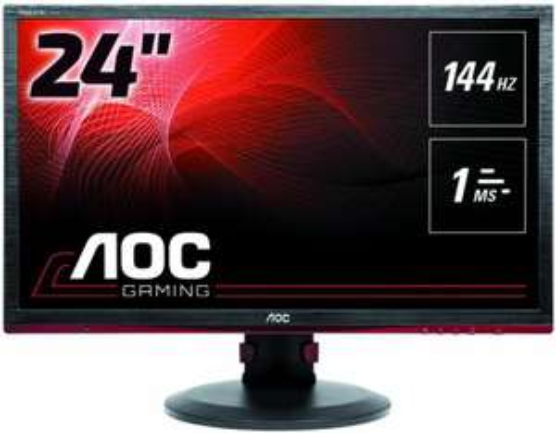 "AOC G2460PF Monitor 24"" - FHD, TN, 350cd/m², 1ms, USB Hub, Höhenverstellung, Pivot, LFC, 144Hz, FreeSync, G-Sync Compatible (Amazon)"