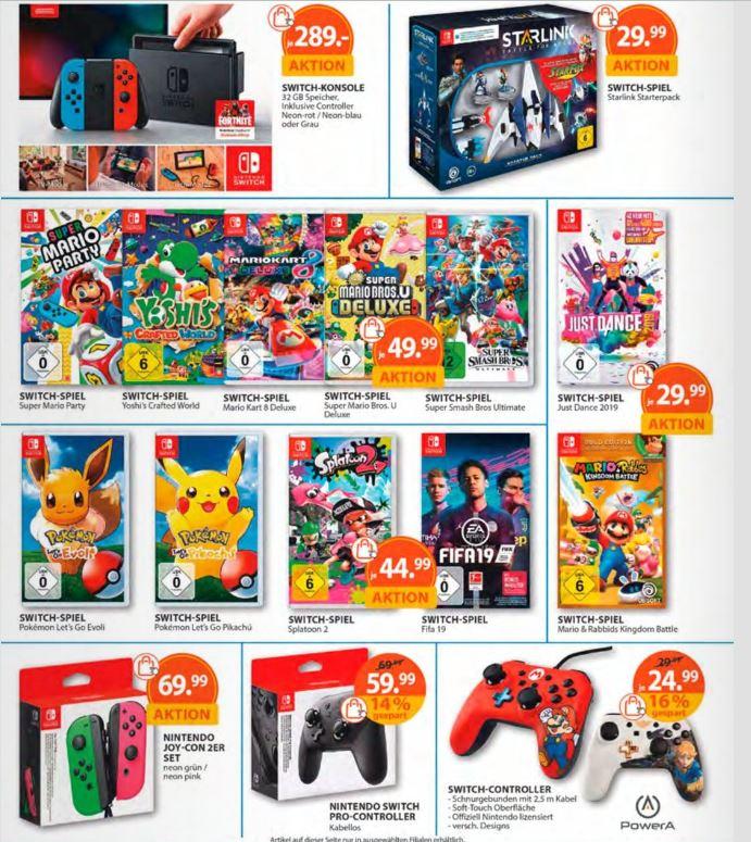 Nintendo Switch Angebote bei Müller - 15% Gutschein nicht vergessen - Gültig ab 08.04.