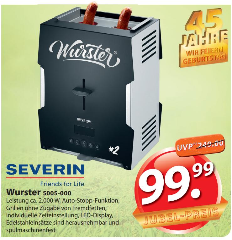 Severin Wurster WT5005 für 99,99€ bei Famila-Nordost