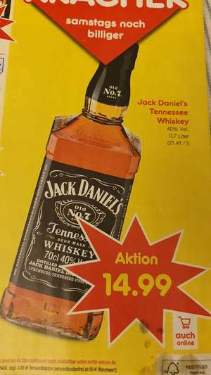 (Netto) Jack Daniel's Tennessee Whiskey 0,7 l