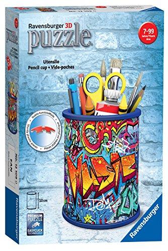 Amazon Plus Produkt Ravensburger 12109 Graffiti Pencil Holder, 54Pc Jigsaw 3D Puzzle/Stifthalter, Mehrfarbig 5,69 Euro