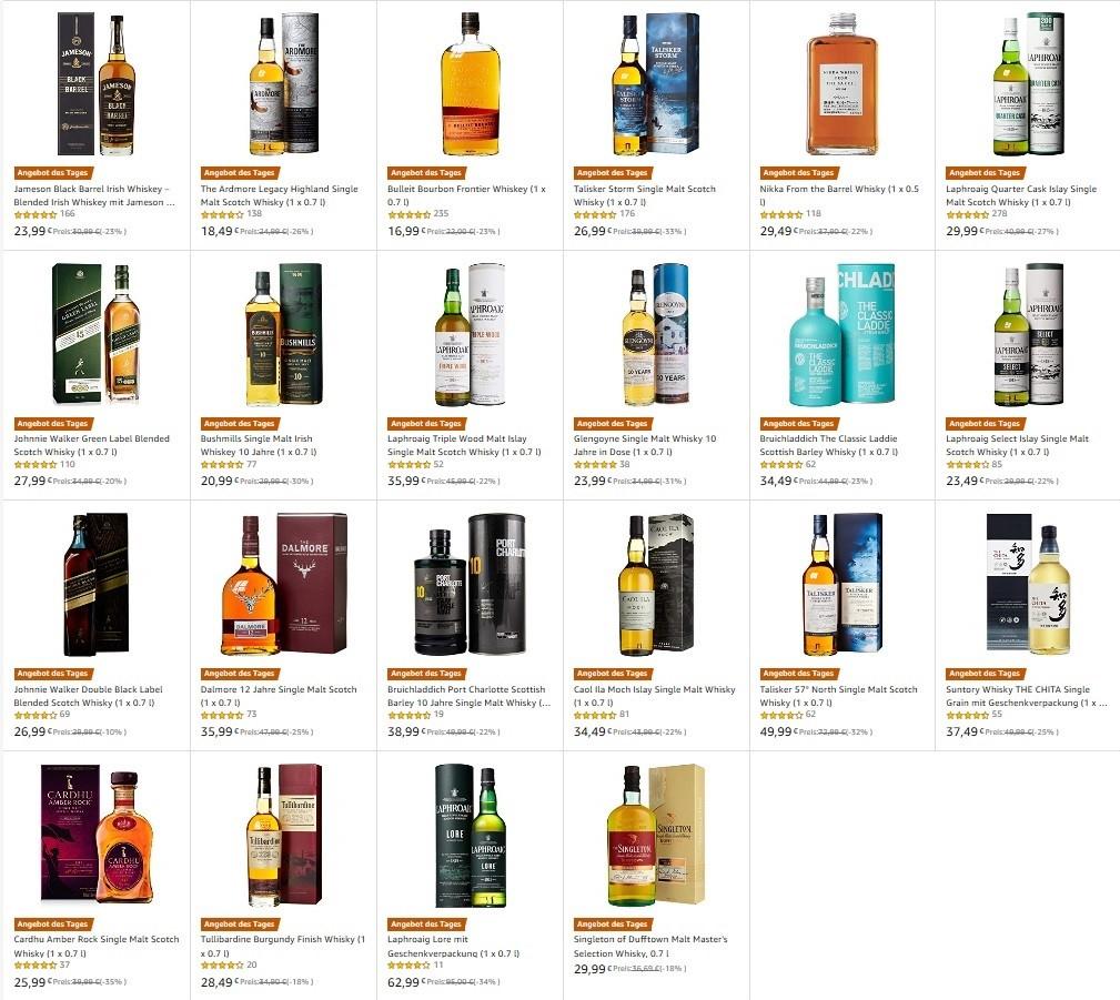 [Amazon] Whisky im Tagesangebot / Dalmore / Bowmore / Laphroaig / Glengoyne