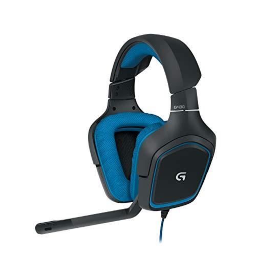 Logitech G430 Gaming Headset Dolby 7.1 Surround Sound für PC blau für 34,28€ inkl. Versandkosten