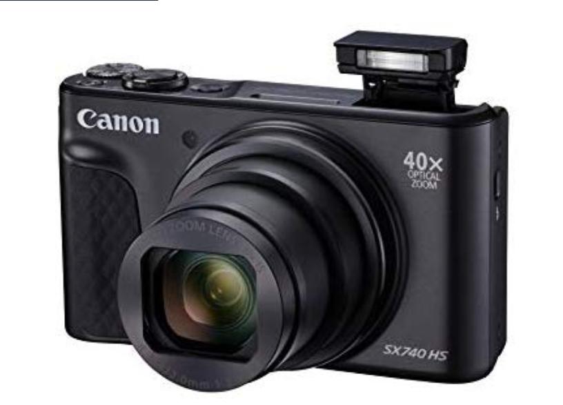 Canon Powershot SX740 HS 40fach Optischen Zoom 4k UHD 20,3 Mega Pixel WLANBildschirm klappbar [Angebot des Tages]
