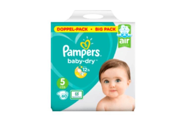 3 für 2 Pampers Baby Dry Doppelpack (Windeln oder Pants) bei Müller