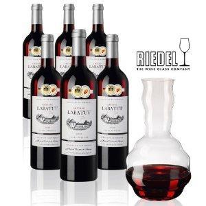 [Amazon] Château Labatut Weinpaket + gratis Riedel Dekanter für 39,00 statt 80,80 €