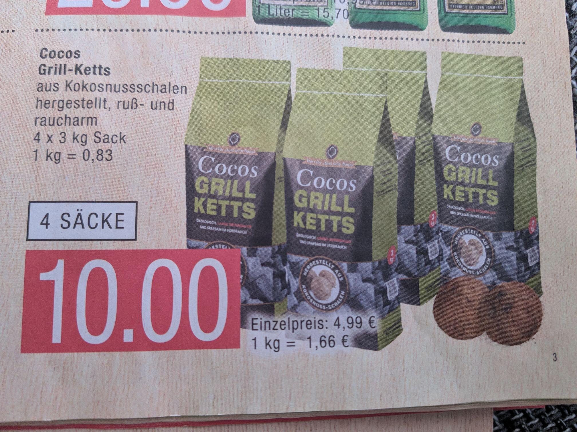 [Lokal] 12 kg Cocos Grill-Ketts für 10,- € Marktkauf HH & Umgebung