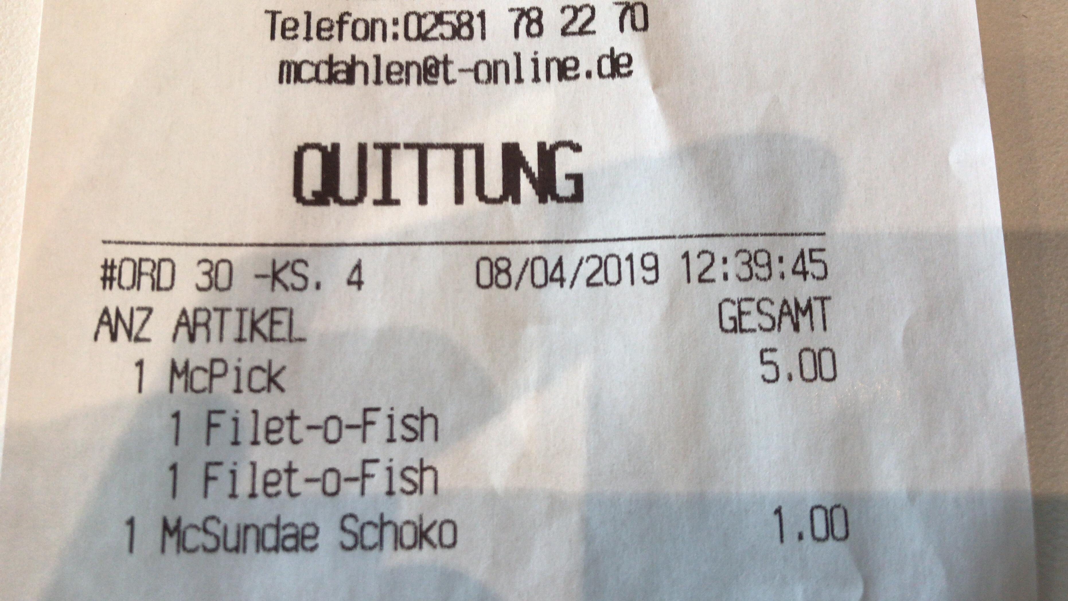 [McDonalds] (Lokal) McPick Aktion 2 Klassiker nach Wahl für 5€