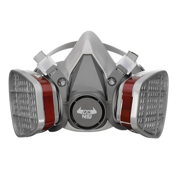 DANIU 6200 N95 Gasmaske mit Doppelfilter / Atemschutzmaske / Lackiermaske