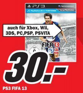 [lokal] FIFA 13 alle Plattformen PC, Xbox360, PS3, Wii, 3DS, PSP, PSVita im MM Hof 30€