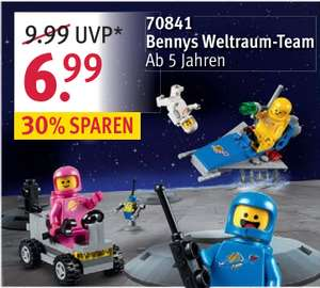LEGO-Angebote bei Rossman, u.a. Bennys Weltraum-Team (70841)