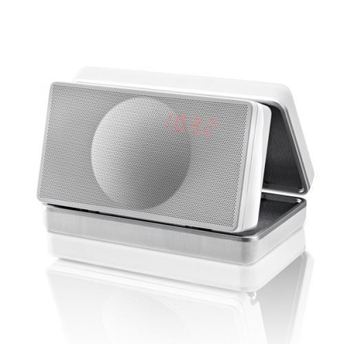Geneva Lab Sound System XS weiß Bluetooth-Streaming Radio mobile Lautsprecher