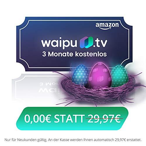 Drei Monate waipu.tv gratis testen [über Amazon]