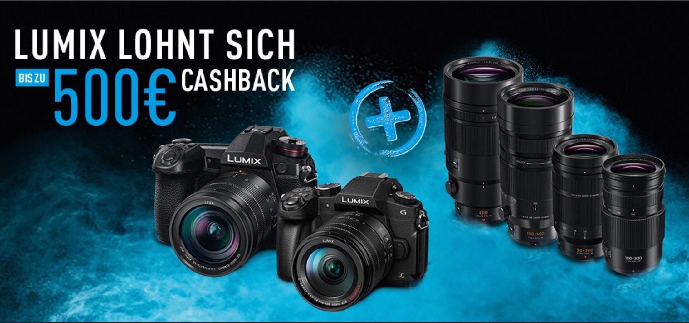 [Panasonic] Bis zu 500€ Cashback auf LUMIX G9, G81 und teilnehmende Objektive
