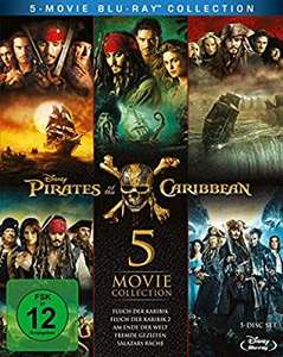 Pirates of the Caribbean 1-5 Box Bluray [Amazon Prime]