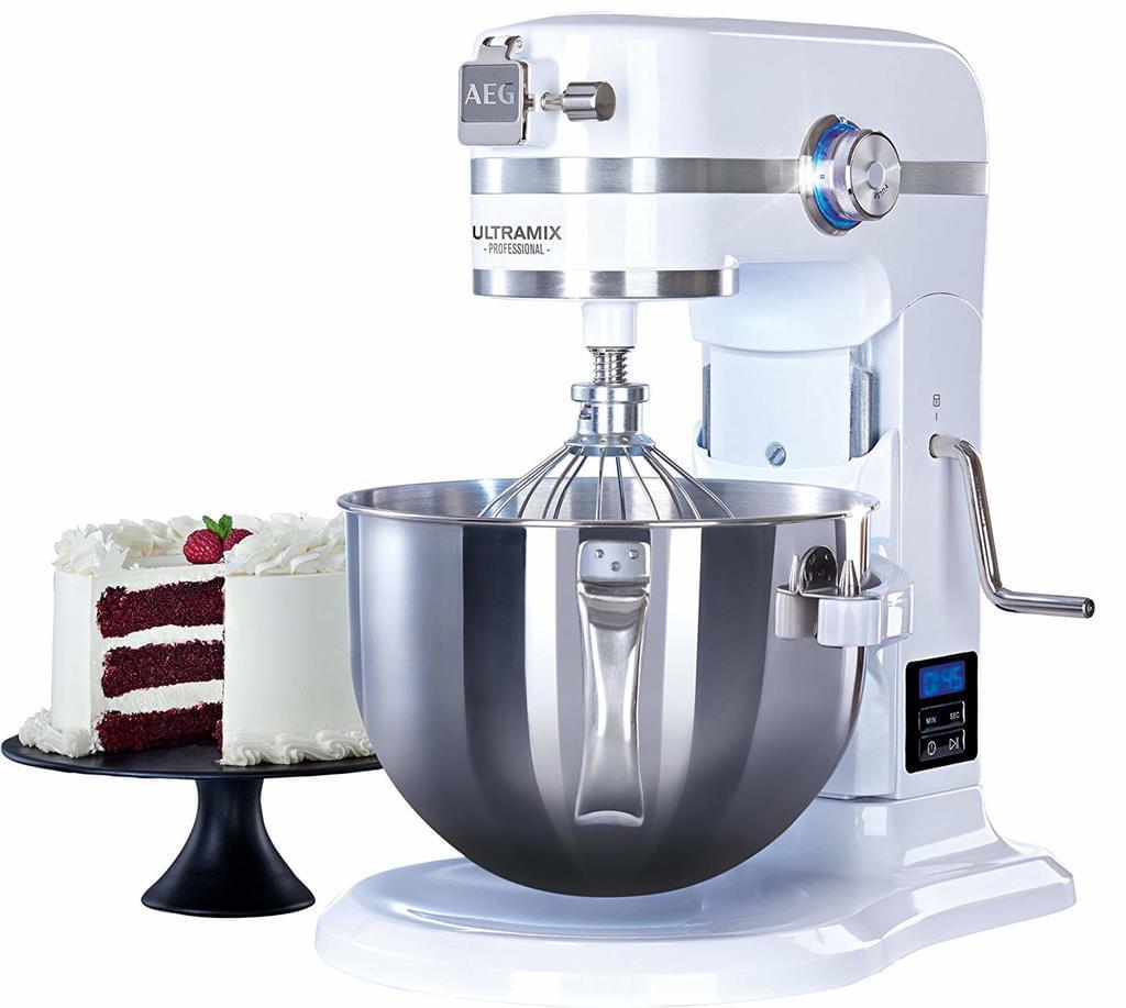 AEG Ultramix KM6100 - Küchenmaschine 5,7 l Rührschüssel, Timer mit Abschaltautomatik, 1,6 PS-Motor und 10 variablen Geschwindigkeitsstufen