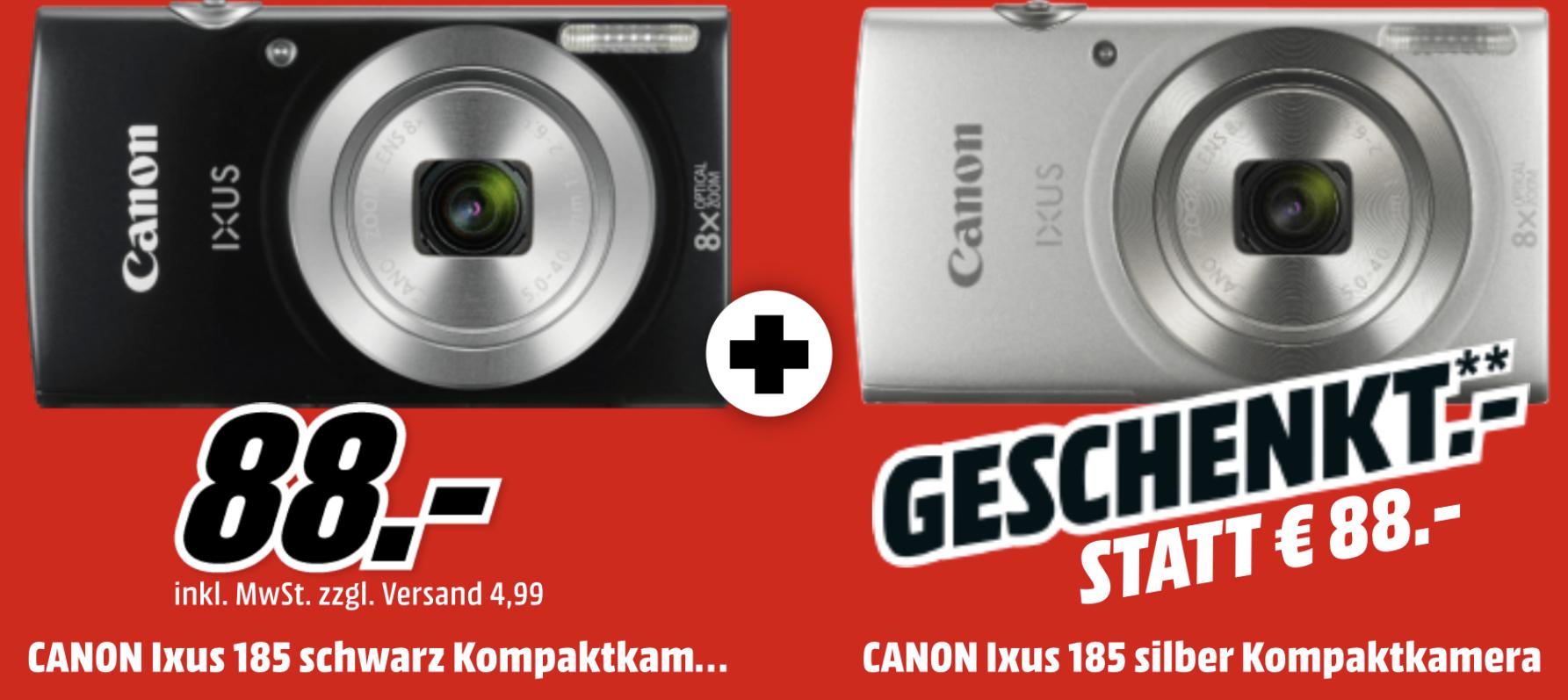 2 x Canon IXUS 185 Kompaktkamera für 88€
