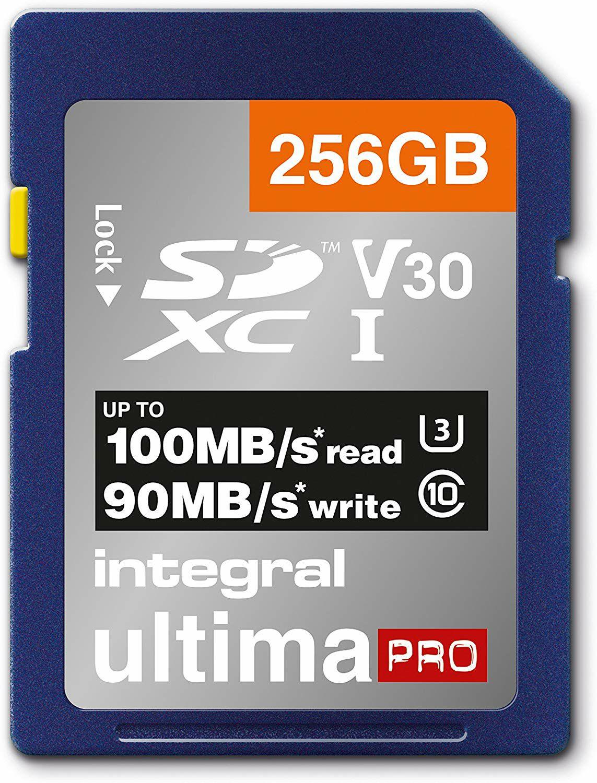 Integral UltimaPRO Premium - 256GB, A1/V30/U3, 100-90MB/s, (SDXC) für 28.91€ oder (microSDXC) für 29.72€ [Mymemory]