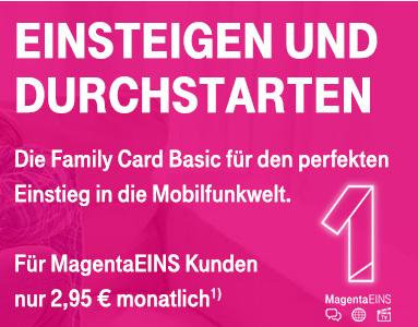 Telekom - Family Card Basic für MagentaEINS