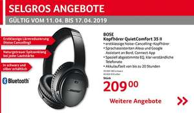 Bose QuietComfort 35 II Wireless Kopfhörer