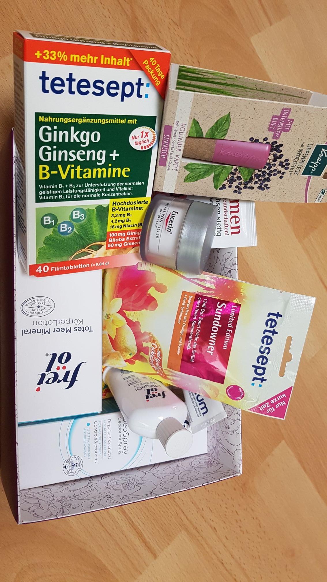 [Apotheke zurrose] freiöl und eucerin produkte in überraschungsbox kosmetik 12 teilig