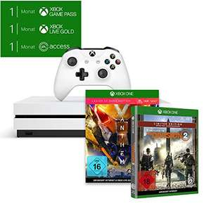 Xbox One S 1TB - Anthem + Tom Clancy's The Division 2 + 1 Monat Game Pass & Gold