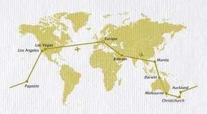 Round the World Ticket: incl. Philippinen, AUS, NZ, Tahiti (!) und USA für 1779,- €