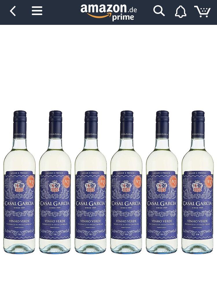 [Amazon Prime] Casal Garcia Vinho Verde 6 Flaschen x 0,75 L