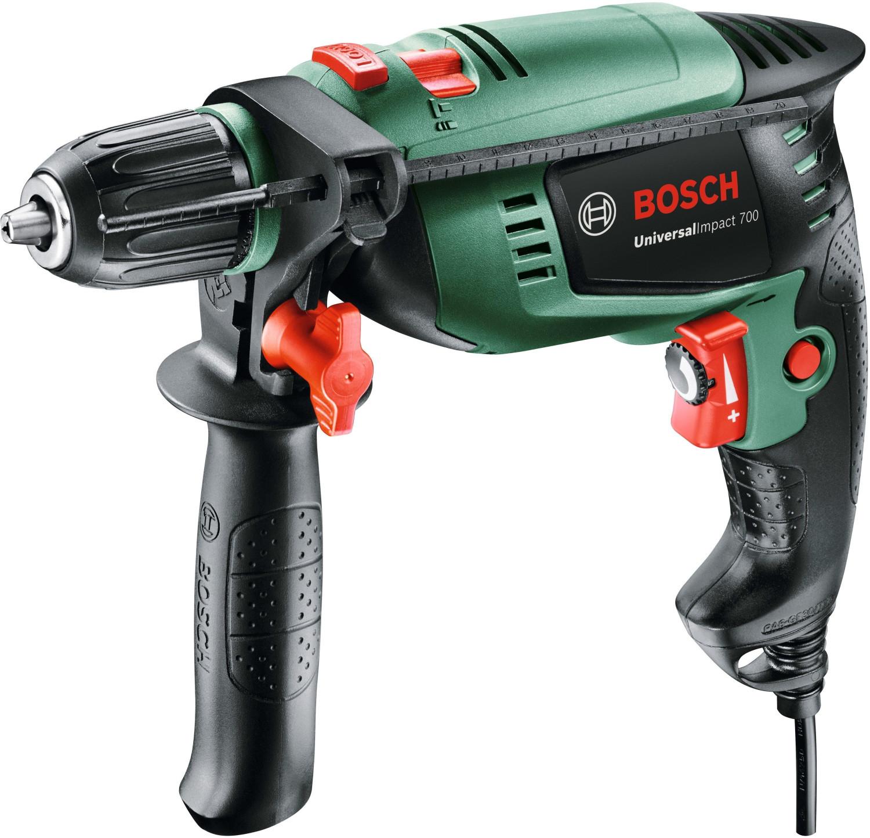 Bosch Schlagbohrmaschine UniversalImpact 700 (Zusatzhandgriff, Tiefenanschlag, Koffer, 700 Watt) [Amazon]