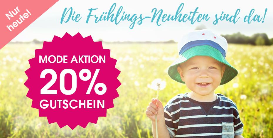 20% Rabatt auf die Frühlings-Neuheiten bei Babymarkt - z.B. Steiff Weste für 32€ statt 43€