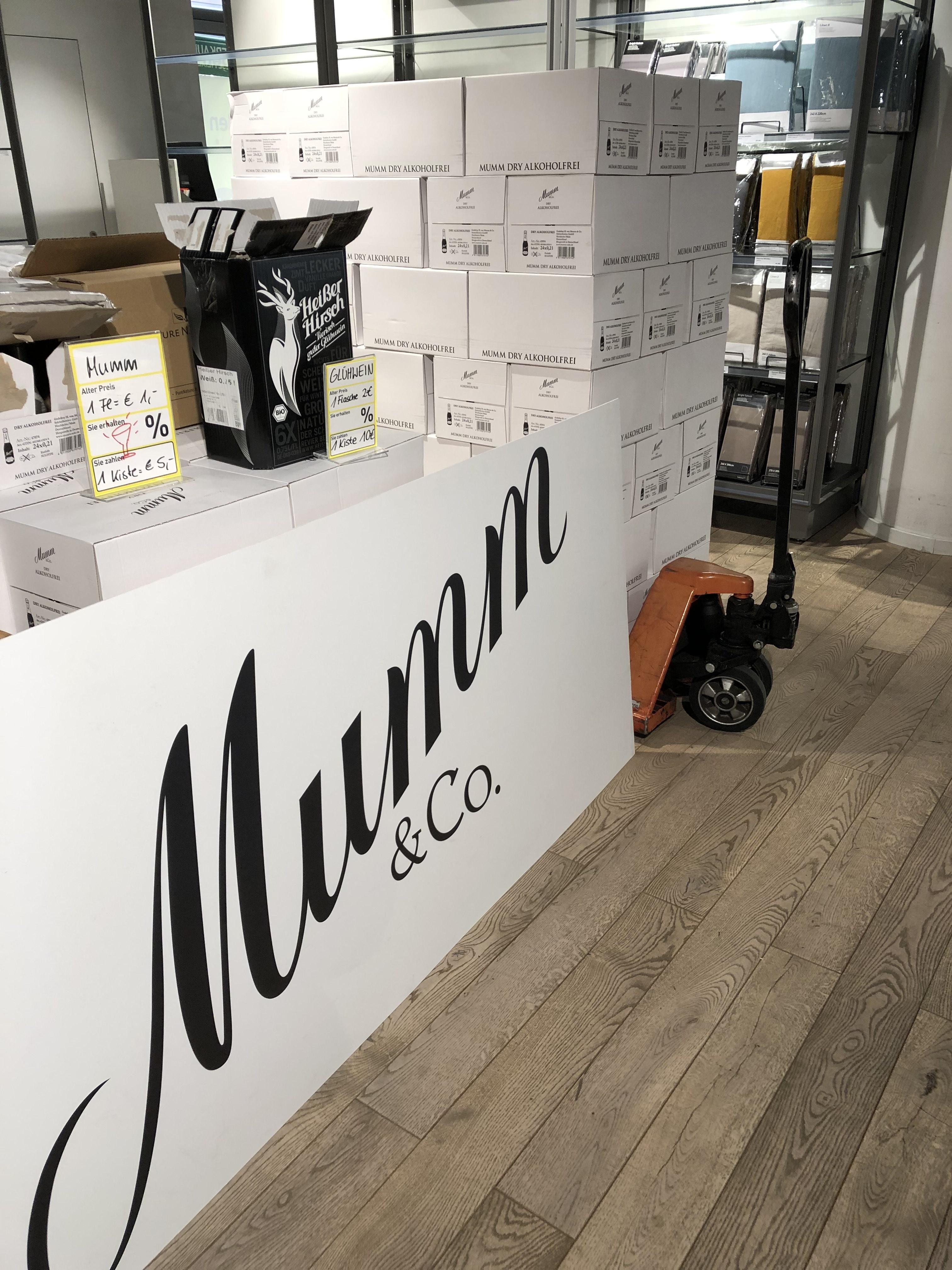 Mumm Dry Alkoholfrei Sekt - 24 Fläschchen für 5€ - Lokal