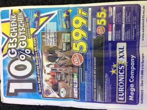 Lokal Samsung UE46ES5700  599.- Euro + 10% Gutschein gratis Euronics XXL Pfullendorf
