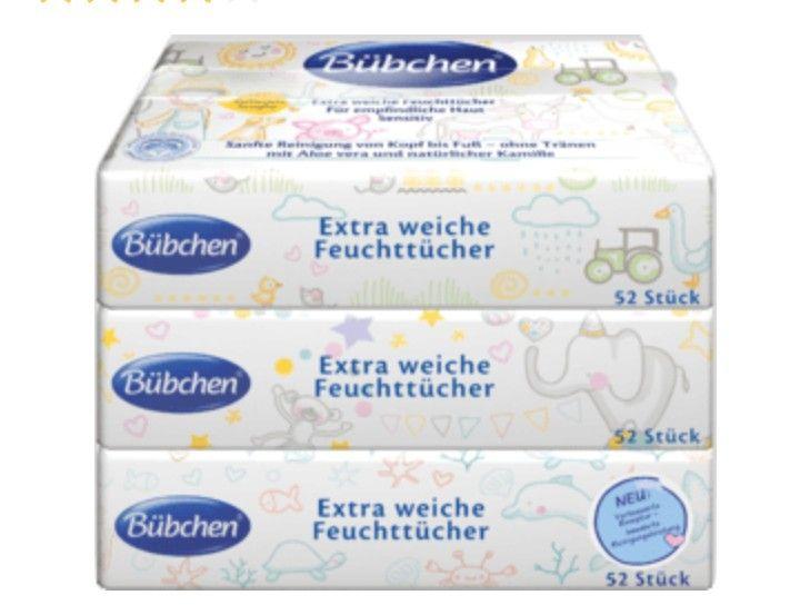 OFFLINE [DM Glückskind] KOSTENLOS Feuchttücher [Wert 7,35€] BÜBCHEN (9x52 Stück)