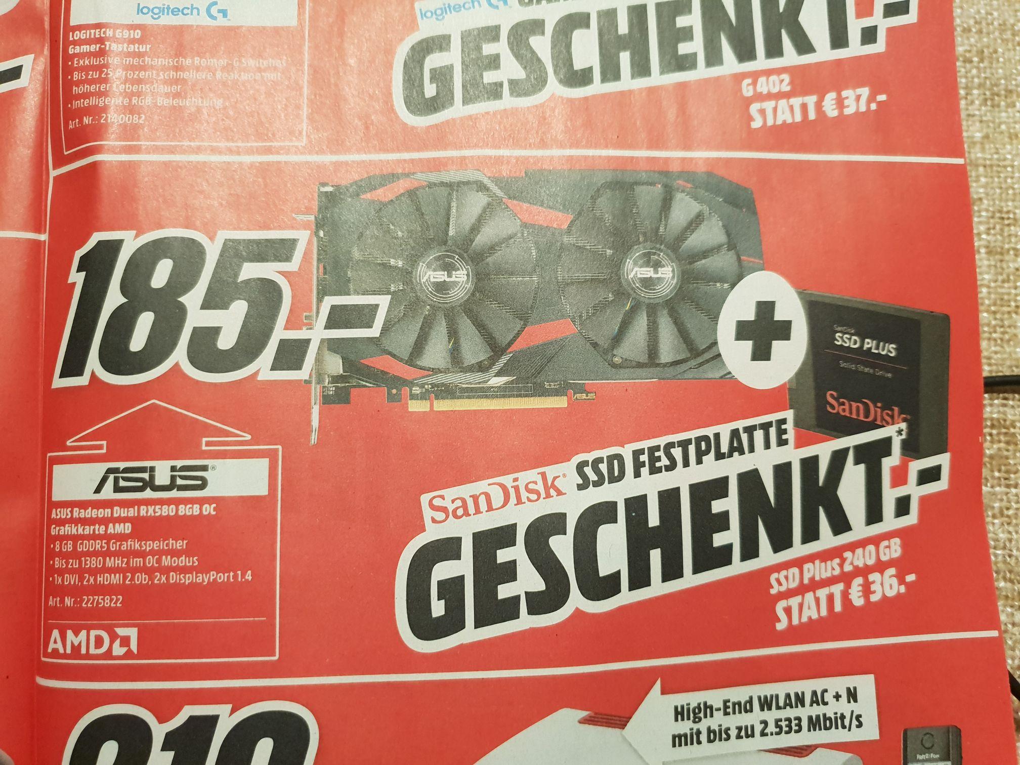 [Online]ASUS RX 580 + SSD 240GB (+Spiel)