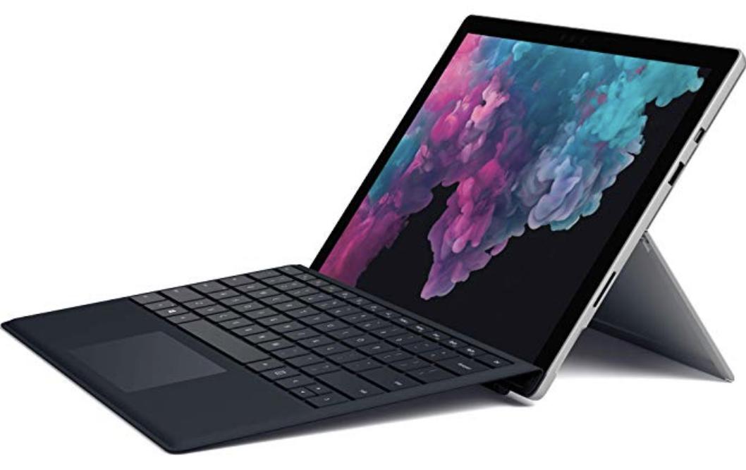Microsoft Surface Pro 6 Intel Core i5, 8GB RAM, 128GB SSD, Win 10 Home Platin + Surface Pro Type Cover schwarz für 799€