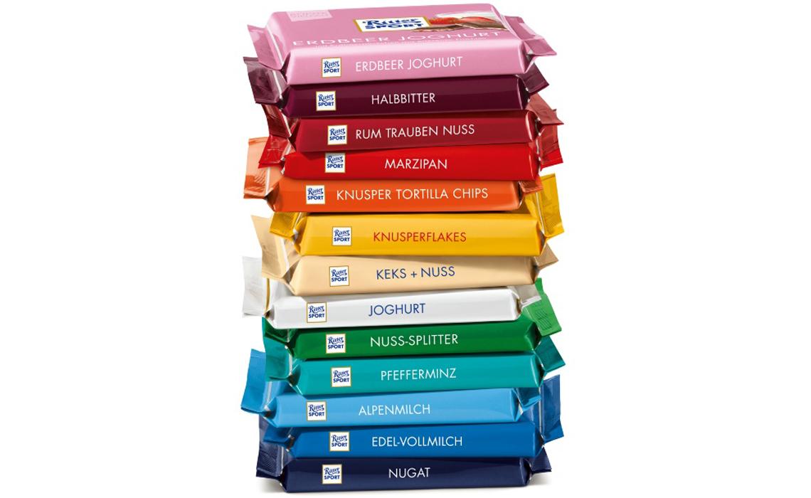 [LIDL] Ritter Sport Schokolade bunte Vielfalt 100g für 55 Cent