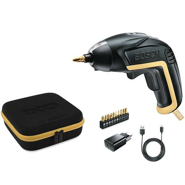 [BAUHAUS Gera] Bosch Akku-Schrauber IXO Gold & Black, 3,6V / 1,5Ah, mit Akku, Bitset und Tasche