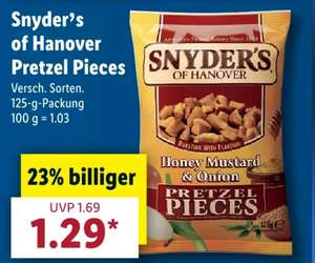 [Lidl] Ab 17.04 Snyder's of Hanover Pretzel Pieces für 1,29€