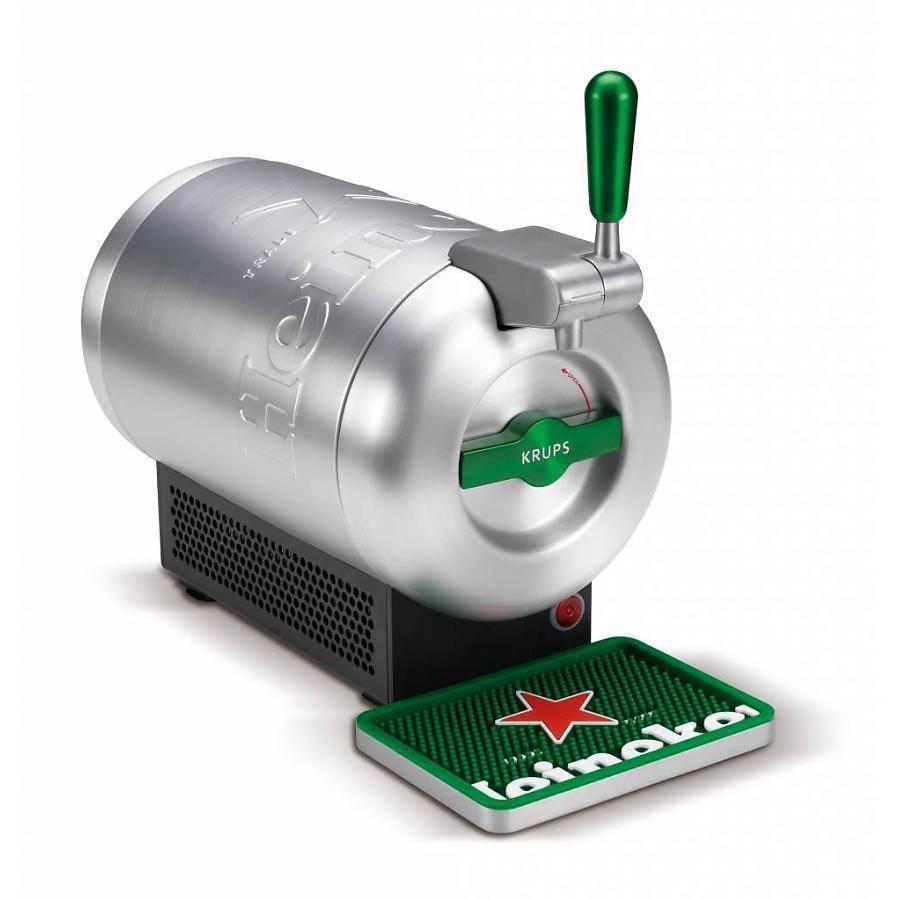 Nur heute: Krups The Sub Zapfanlage im Heineken Design für 99€ (statt 199€) – oder The Sub Mini für 59€