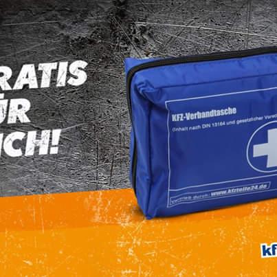[kfzteile24.de] kostenlose KFZ-Verbandtasche für ein Facebook-Like