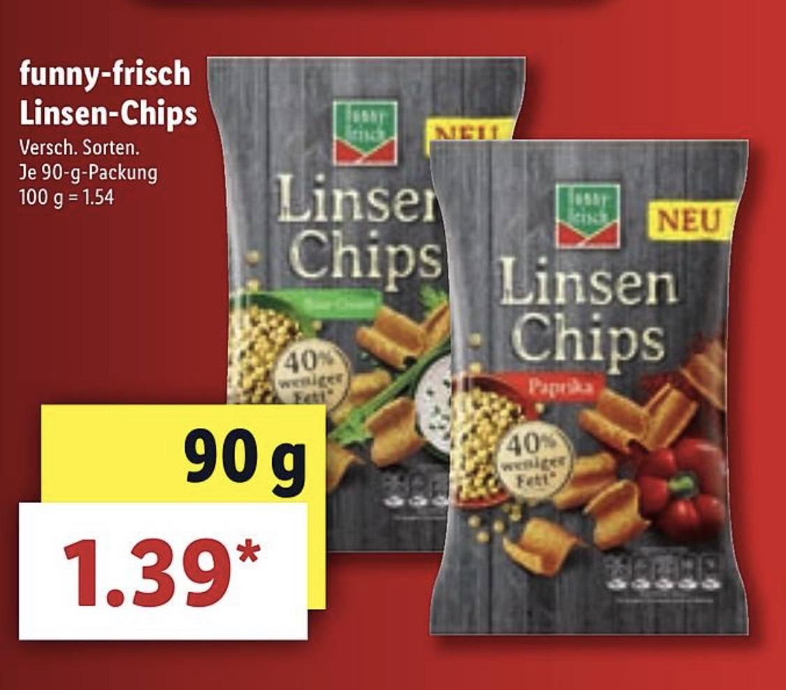 Funny Frisch Linsen Chips verschiedene Sorten 90g 1,79€ [Lidl ab 15.04]