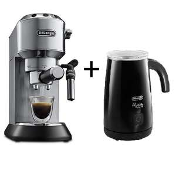 DELONGHI EC 685.M Dedica Style Espressomaschine + Milchaufschäumer DELONGHI EMF 2 Alicia Latte @MediaMarkt bei Abholung