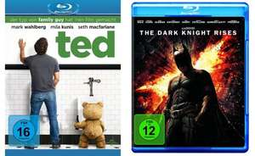 [Blu-ray] Ted & The Dark Knight Rises zusammen nur 24,90 € @Conrad