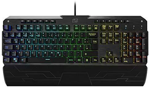 Lioncast LK300 RGB Aluminium Gaming Tastatur (mechanisches Keyboard, Red Switches, QWERTZ, LED, [Amazon]