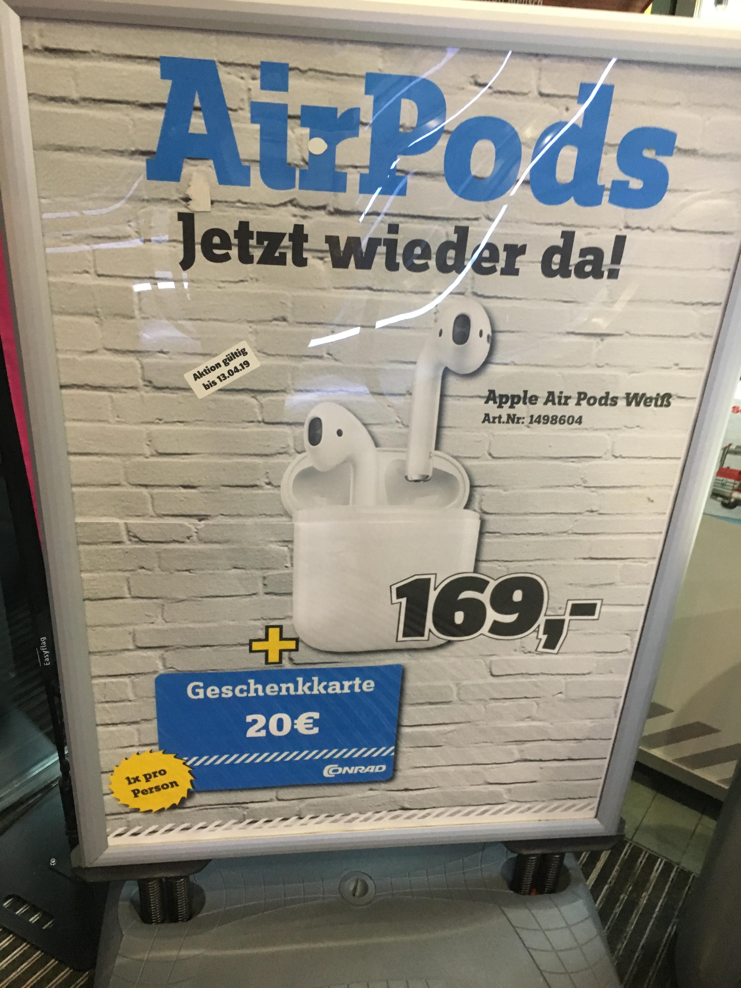 (Lokal Stuttgart) Apple AirPods + 20€ Gutschein