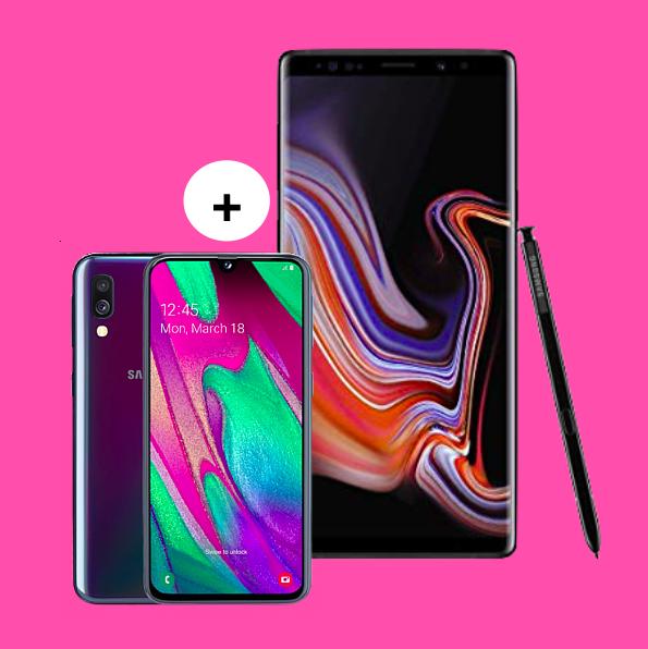 Telekom Magenta Mobil M (auch Young & MagentaEins) mit Samsung Galaxy Note 9 + Galaxy A40 für 66€ Zuzahlung